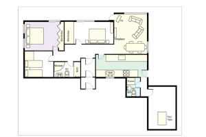 Anniversary Cottage, Elterwater, Floorplan