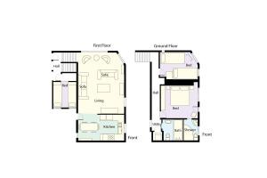 End Cottage, Chapel Stile, Floorplan
