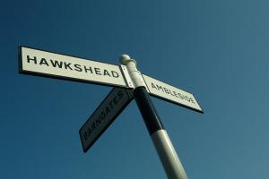 Outgate, Barngates, Hawkshead, Ambleside, Cumbria, Sign