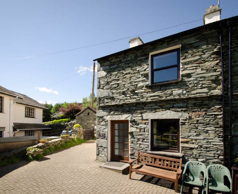 Langstrath Cottage, Chapel Stile, Front and Patio