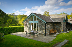Overbeck, Ambleside, Rear Patio