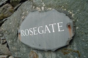 The Stables (Rosegate), Elterwater, Sign